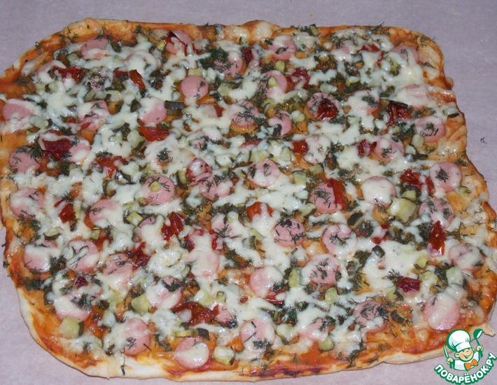 Рецепт: Пицца с огурцом