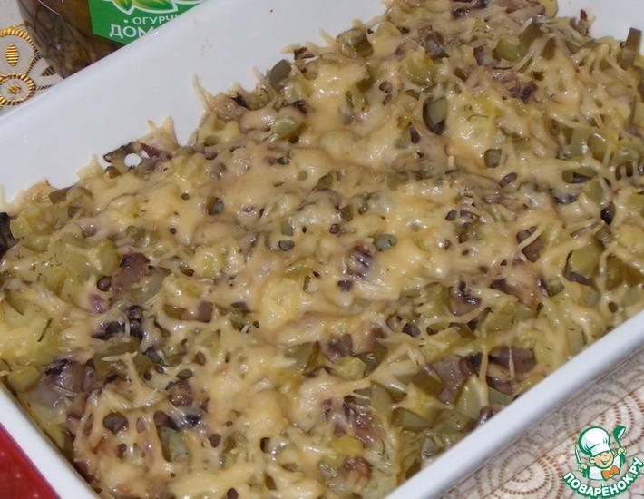 Рецепт: Картофельная запеканка с огурцами
