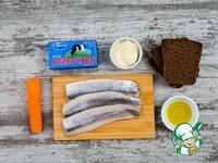 Селедочное масло с гренками из ржаного хлеба ингредиенты