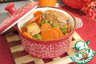 Рецепт: Курица в морковном соке