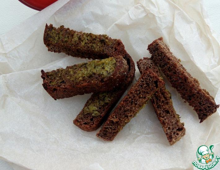 Рецепт: Сухарики со вкусом огурца