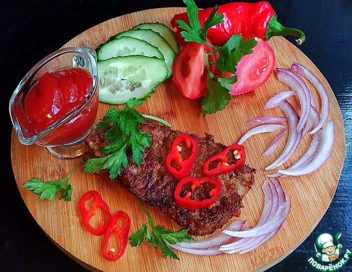 Рецепт: Отбивная из говядины Луковая рапсодия