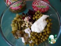 Салат Виолетта с маринованными огурцами ингредиенты