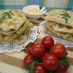 Картофельные вафли с ветчиной