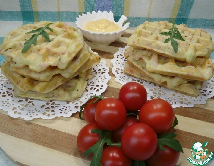 Рецепт: Картофельные вафли с ветчиной
