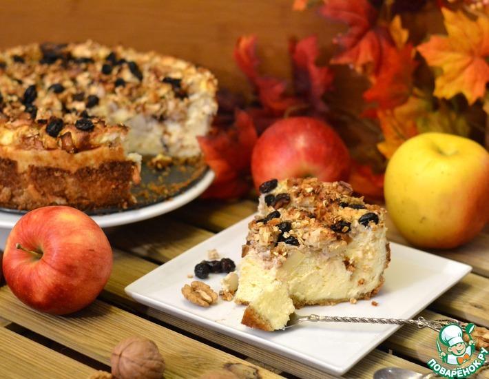 Рецепт: Творожно-фруктовый пирог