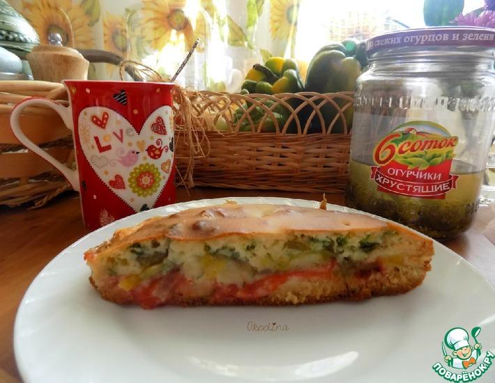 Рецепт: Быстрый овощной пирог