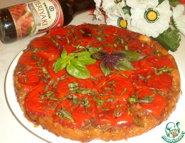 Рецепт: Луково-томатный пирог