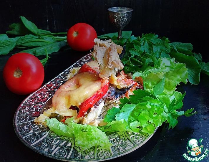 Рецепт: Скумбрия, запеченная с овощами и сыром