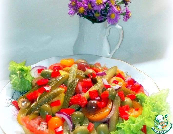 Рецепт: Салат из овощей Сытный