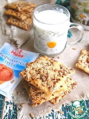 Рецепт: Домашнее галетное печенье с семечками