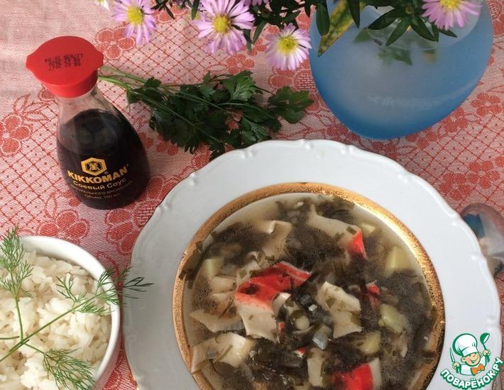 Рецепт: Суп с крабовыми палочками