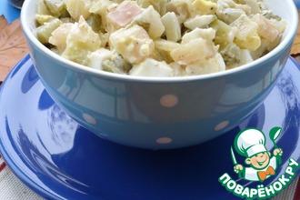 Рецепт: Салат с маринованными огурцами и картофелем
