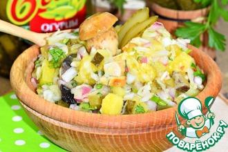 Рецепт: Салат овощной с грибами Вкусная осень