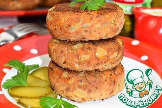 Рецепт: Биточки из картофеля и куриной печени