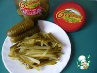 Салат с печенью и маринованными огурцами ингредиенты