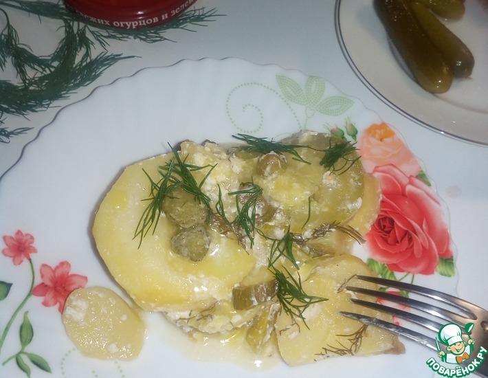 Рецепт: Картофельно-кабачковая запеканка Согласие