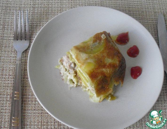 Рецепт: Пирог из картофеля с мясным фаршем