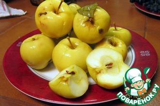 Рецепт: Яблоки мочёные