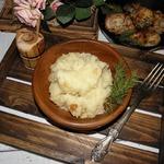 Картофельное пюре с луком и сыром