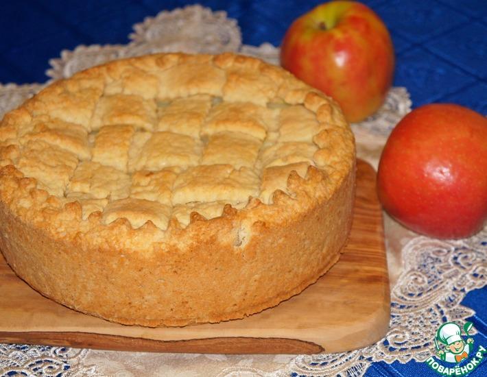 Рецепт: Яблочный пирог с заварным кремом