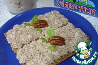 Рецепт: Яично-сливочный паштет с орехами пекан