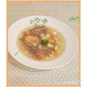 Овощной суп на говяжьем бульоне Любимый