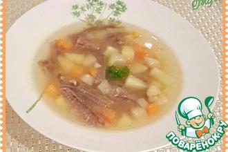 Рецепт: Овощной суп на говяжьем бульоне Любимый