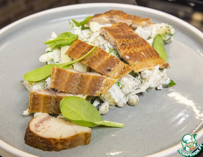 Рецепт: Немецкий салат с копченой рыбой