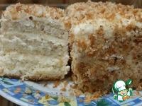 Бисквитное пирожное с кремом из ряженки