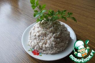 Рецепт: Салат из колбасного сыра Брутальный