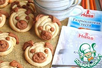 Рецепт: Печенье Щеночки бульдожки