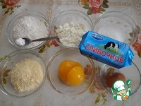 Галеты с творогом и персиками ингредиенты