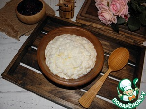 Rice porridge, which does not burn