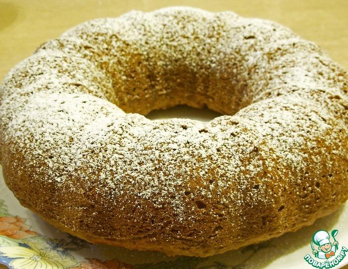 Рецепт: Пшенично-овсяный кекс на яблочном пюре