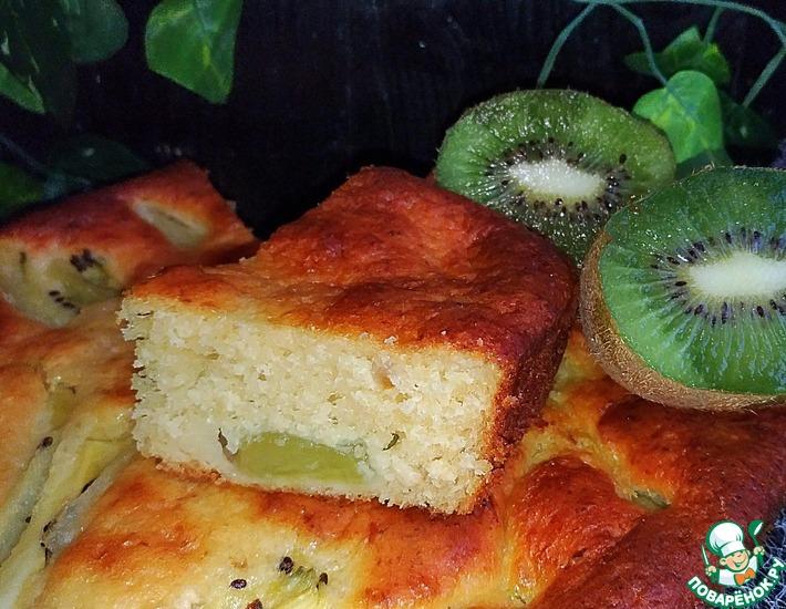 Рецепт: Творожный пирог с киви