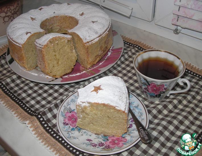 Рецепт: Творожно-яблочный кекс Секретная миссия