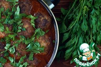 Рецепт: Тефтели в соусе Кефтедес