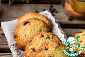 Рецепт: Хрустящее миндальное печенье с шоколадом