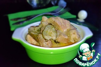 Рецепт: Свинина с подливой на грузинский манер
