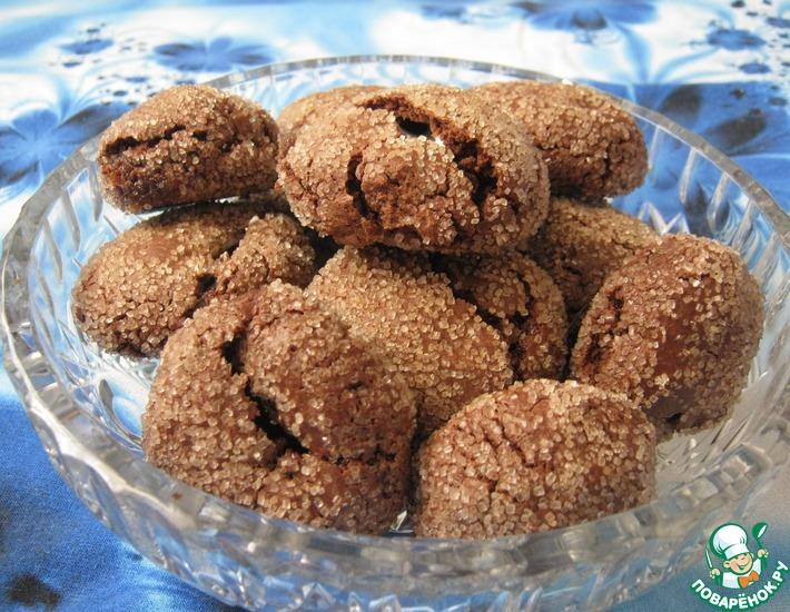 Рецепт: Шоколадное печенье с зефиром маршмеллоу