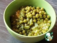 Яичный салат с огурцами и горошком ингредиенты
