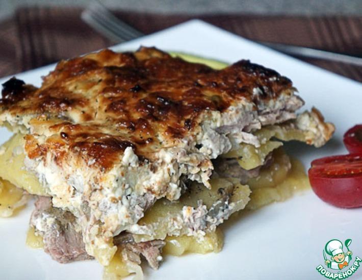 Рецепт: Мясо по-французски