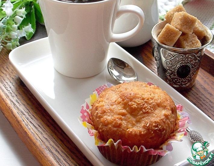 Рецепт: Яблочные кексы с хлопьями и кокосом