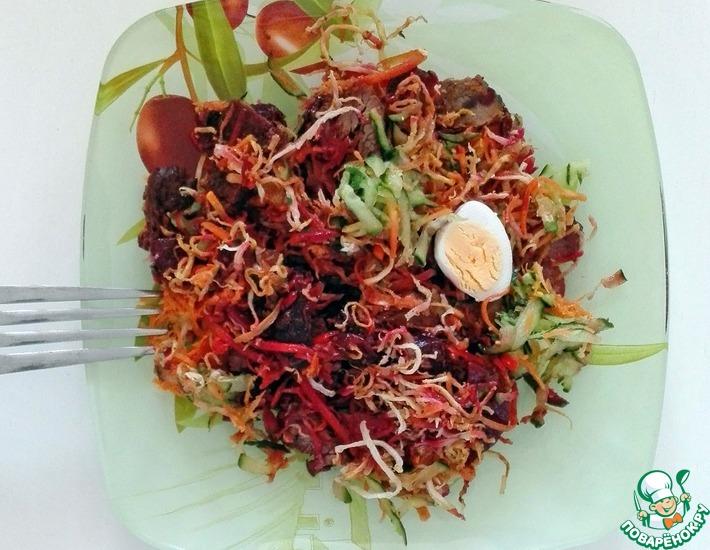 Рецепт: Салат с телятиной и жареным сельдереем