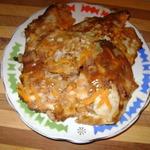 Луковые оладьи с рыбными консервами