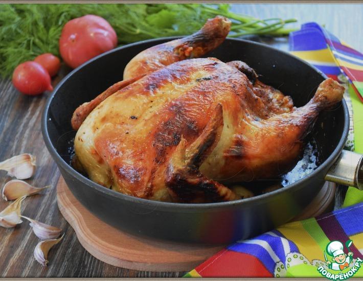 Рецепт: Курица 40 зубочков чеснока