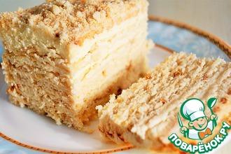 Рецепт: Торт без выпечки с творожным кремом
