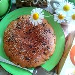 Гречневый пирог с лёгким и грибами