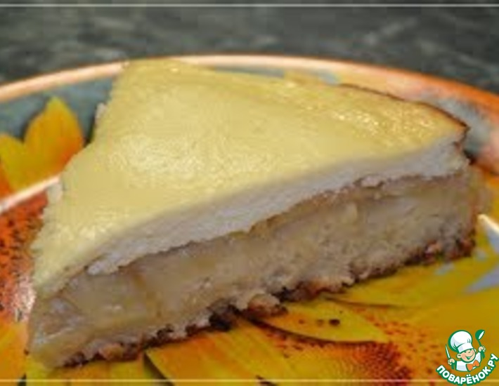 Рецепт: Яблочный пирог с творожным кремом